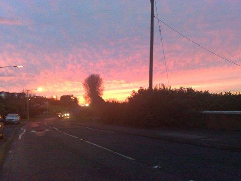 belfast pink sky